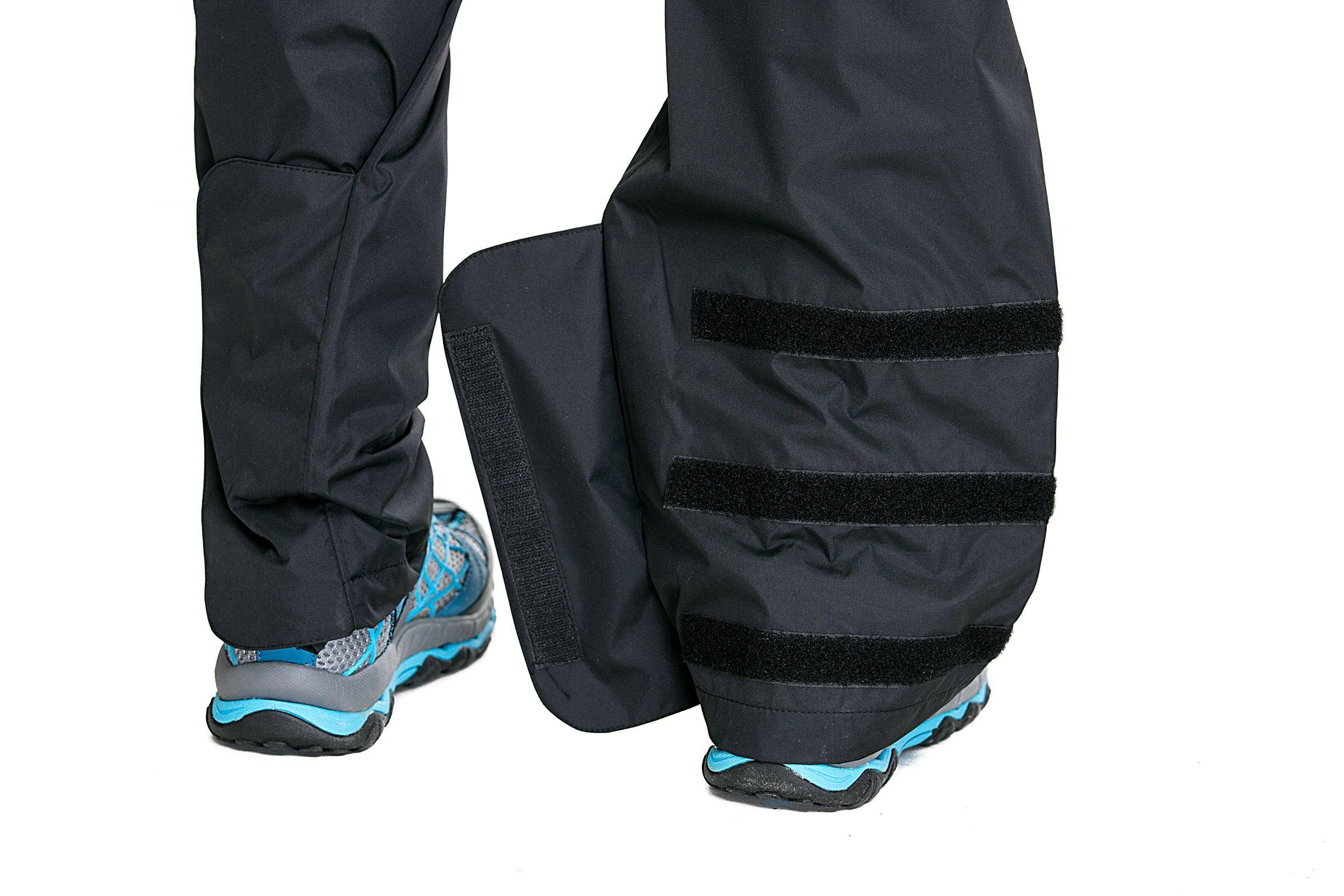 Trailside Supply Co. Men's Waterproof Windproof Elastic-Waist Rain Pants (Black,X-Large) by Trailside Supply Co. (Image #2)