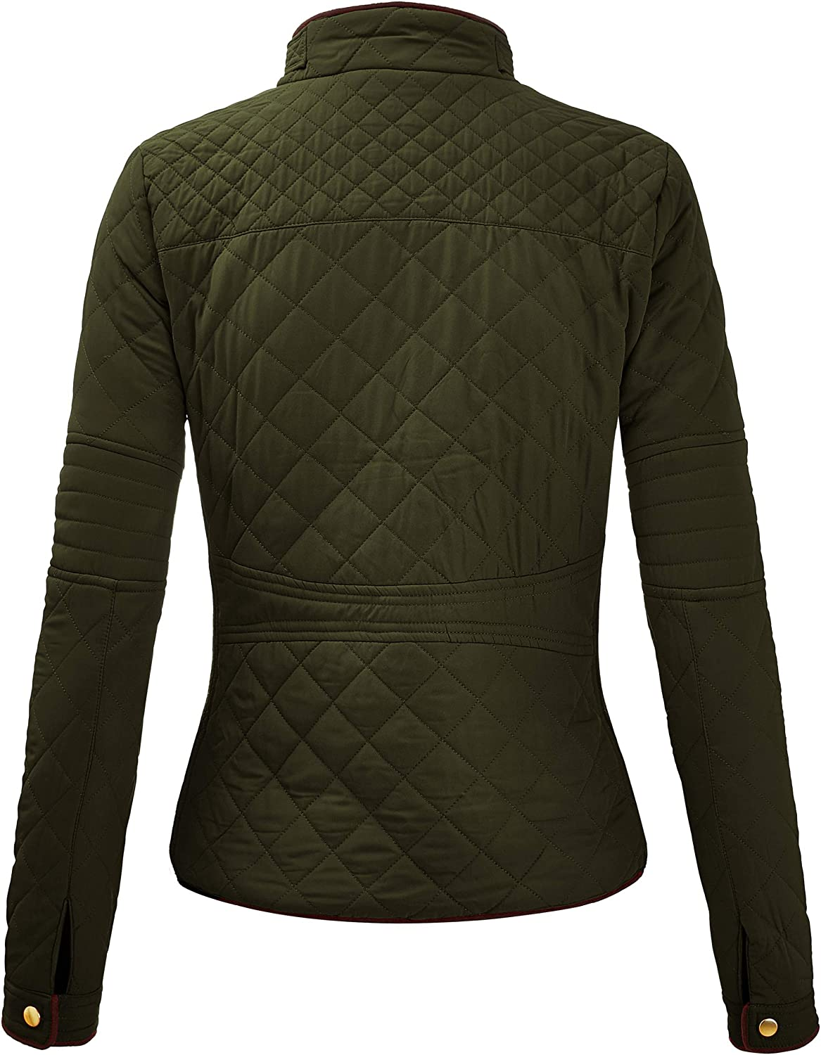 Regular and Plus Sizes Lightweight Zip Up Jacket FASHION BOOMY Womens Quilted Padding Vest