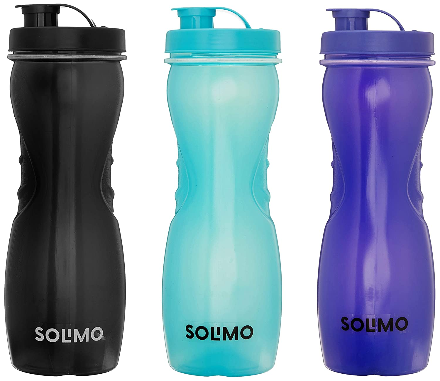 60% Off Deal – Solimo Water Bottle, Set of 3, 1L