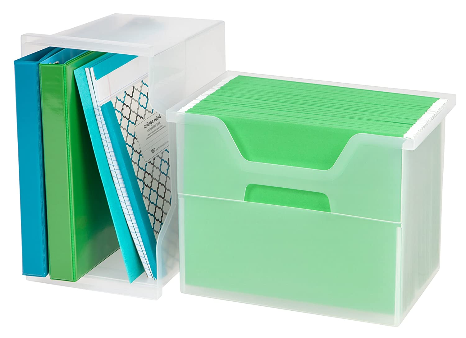 IRIS Desktop File Box Clear Small