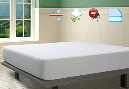 Savel, Protector de colchón Rizo 100% algodón, Impermeable y Transpirable, 80x190/