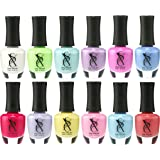 SXC Cosmetics Pastel Nail Polish Lacquer 15ml/0.5fl set of 12 Colors lot