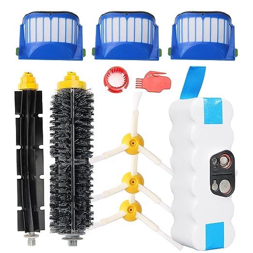 Yosahaw14.4V 3800mAh batería de Repuesto + Kit de Reemplazo para iRobot Roomba Serie 600 (585 605 615 616 620 625 630 631 632 639 650 651 660 670 680 ...