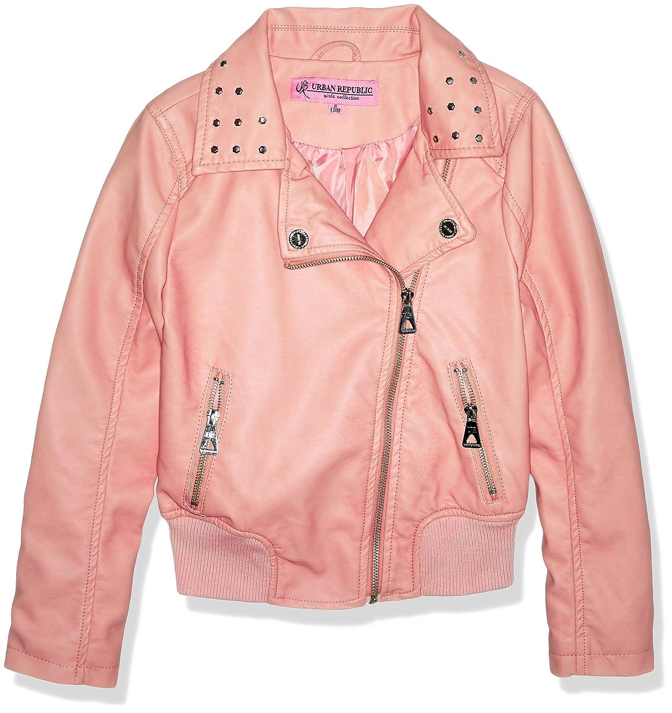 Urban Republic Big Girls Faux Pu Jacket 303 Green 7//8 5646ABG-125