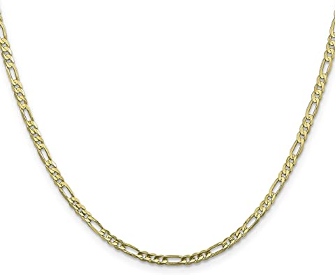 FindingKing Gold Plated Figaro Chain 18