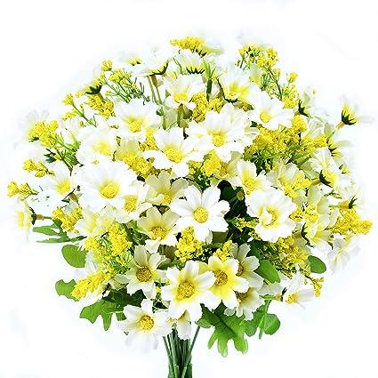 Mazzo Di Fiori Margherite.Amazon Com Turelifes 4pcs Artificial Flowers Bouquets Fake Mini