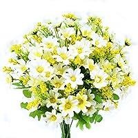 Turelifes 4 piezas Flores Artificiales ramilletes Artificial Mini