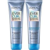 L'Oreal Paris EverCurl Sulfate Free Shampoo and Conditioner Kit for Curly Hair, Lightweight, Anti-Frizz Hydration, Gentle on