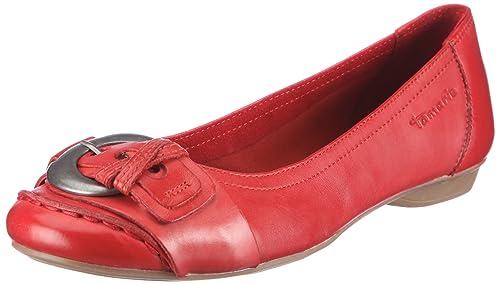 39b5eb6cca6182 Tamaris Damen Black Ballerinas Rot (Chili 533) 37 EU  Amazon.de ...