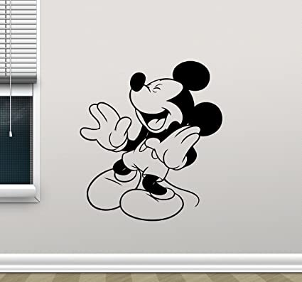 Vinilos Mickey Mouse Para Pared.Mickey Mouse Vinilo Calcomania Decorativo Para Pared Sala De