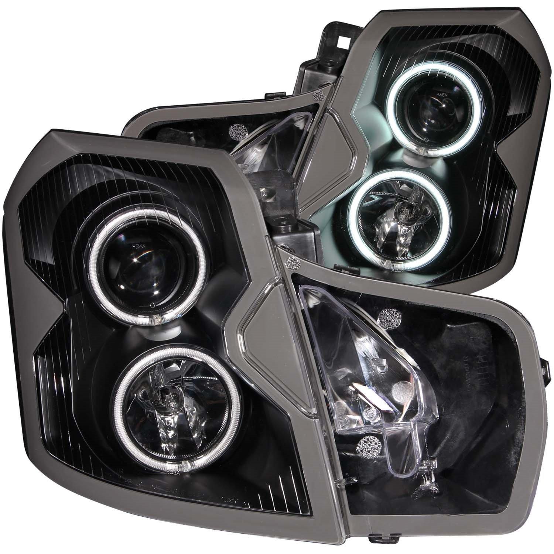 Amazon com 2004 cadillac cts ccfl halo projector headlights 8 led fog bumper light automotive