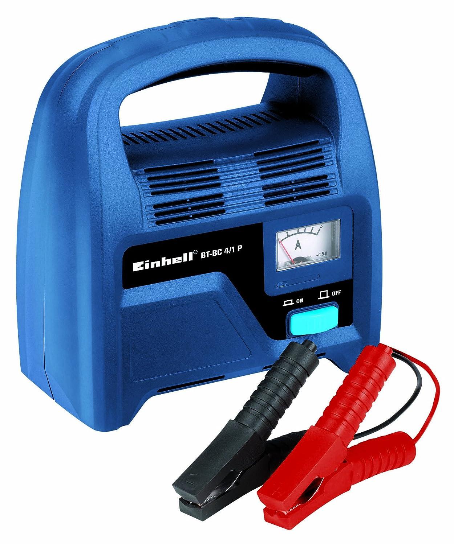 Einhell BT-BC 4/1 P Cargador de batería para Coche, 4 A eff. Capacidad de Carga, amperímetro Incorporado
