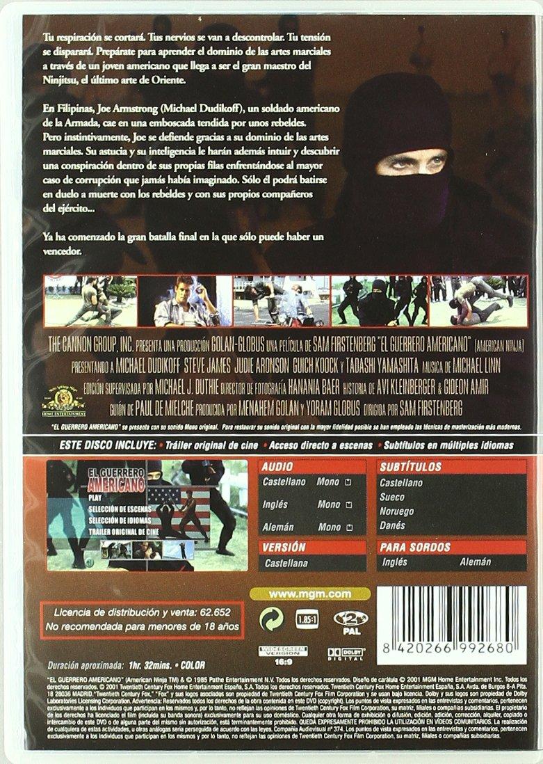 El Guerrero Americano [DVD]: Amazon.es: Michael Dudikoff ...