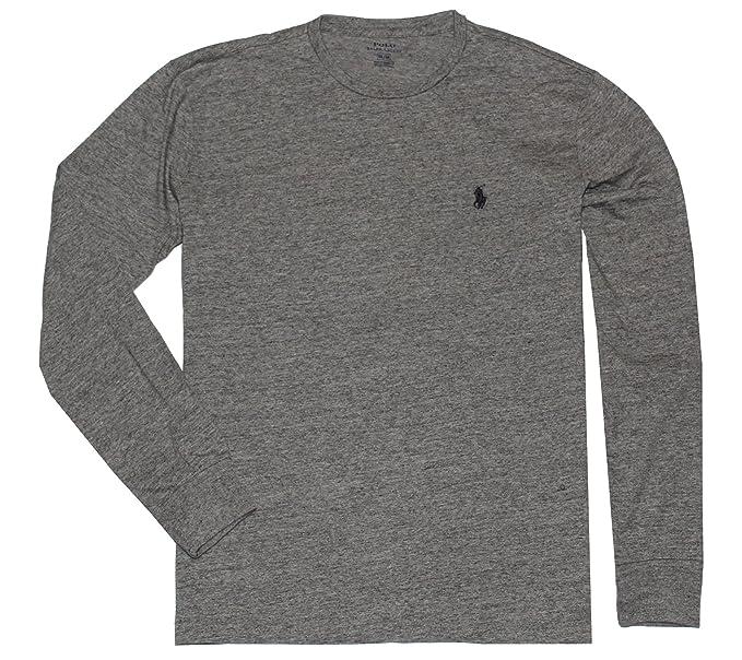 65e61817a774bc Polo Ralph Lauren Men s Long Sleeve Pony Logo T-Shirt - Small - Dark Vintage