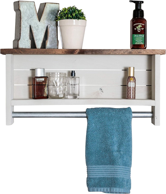Amazon.com: Drakestone Designs Bathroom Shelf with Towel Bar