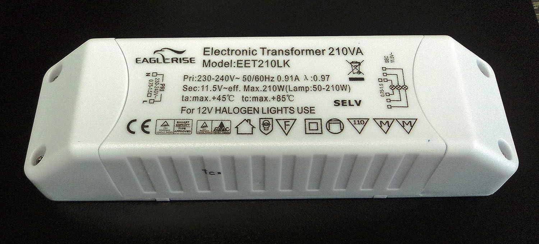 Eaglerise eet2 10lk alogena Trasformatore 210 Watt dimmerabile Ikea