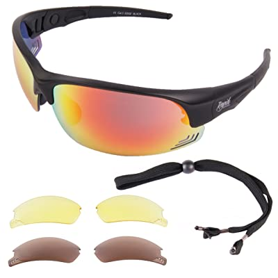 776be9c0f1b5e3 ... et Femmes LUNETTES SOLAIRES DE SPORT  Edge Black . Protection UV400  avec verres polarises miroir interchangeables. Lunettes de soleil pour tir,  ski, ...