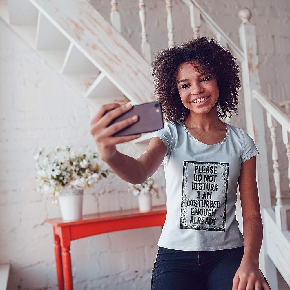 lepni.me Camiseta Mujer No Moleste el Regalo Divertido de la Cuarentena del Virus (Small Amarillo Multicolor): Amazon.es: Ropa y accesorios
