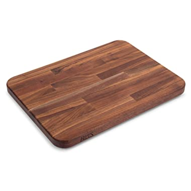 John Boos Block WAL-2317 Blended Walnut Wood Edge Grain Cutting Board with Feet, 23.75 Inches x 17 Inches x 1.5 Inches