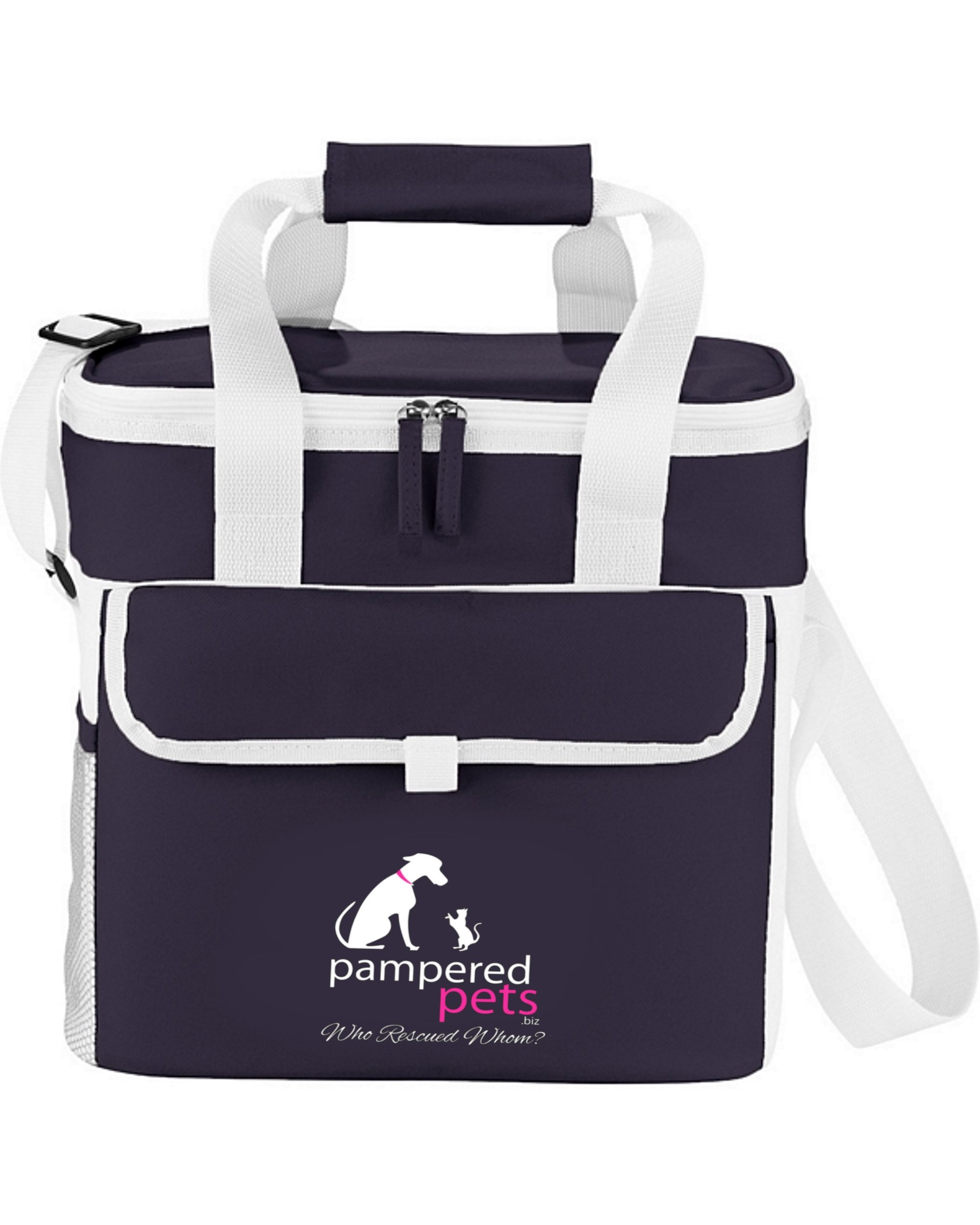 Pampered Pets ''Who Rescued Whom'' Game Day Sport Cooler, Navy
