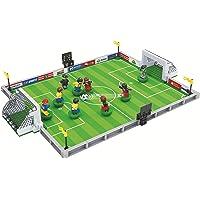 ETINELA Juguetes y Juegos de fútbol,Entrenamiento de fútbol, Partido de práctica, Campo de fútbol, Conjunto de construcción, Futbolista, Árbitro, Figura Minifiguras de 9 Piezas (25590)