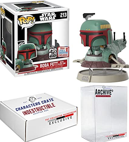 Boba Fett with Slave One NYCC 2017 US Exclusive Pop Deluxe Star Wars