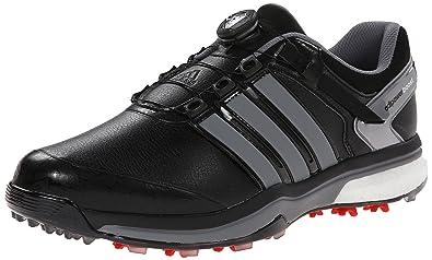 Adidas hombre 's Adipower Boa Boost zapato de golf, Core Negro / plancha metalico