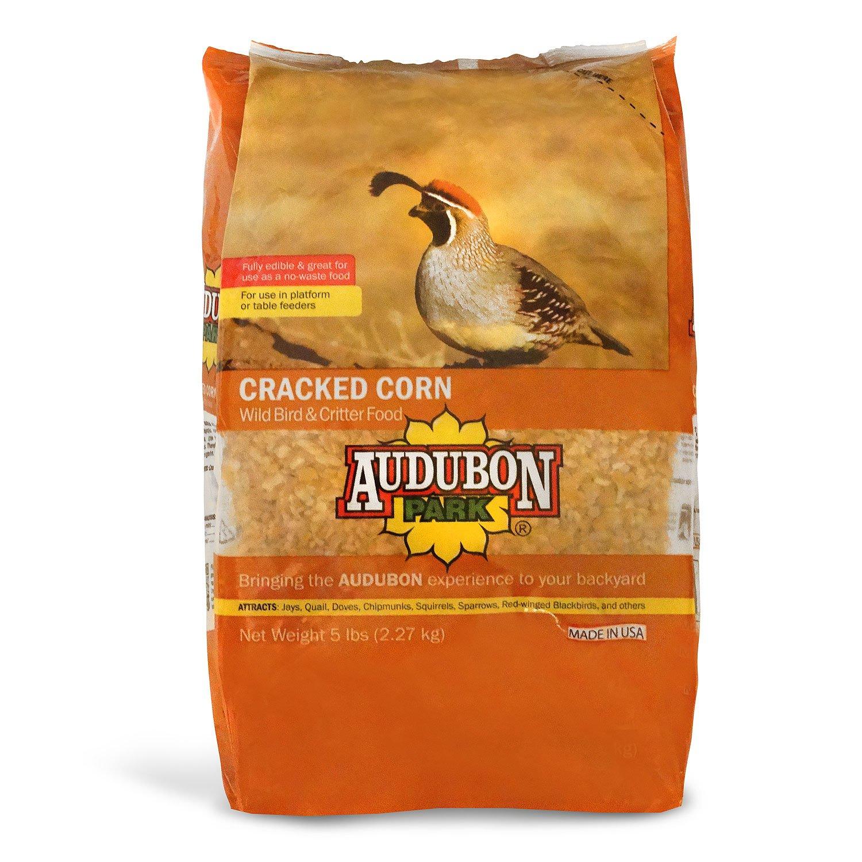 Audubon Park 12223 Cracked Corn Wild Bird and Critter Food, 5-Pounds