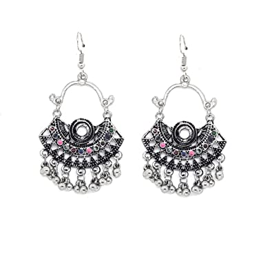 0ac9442a8 Amazon.com: SIMPLE Antique AFGHANI Small CHAND BALI Dangling Earring ...