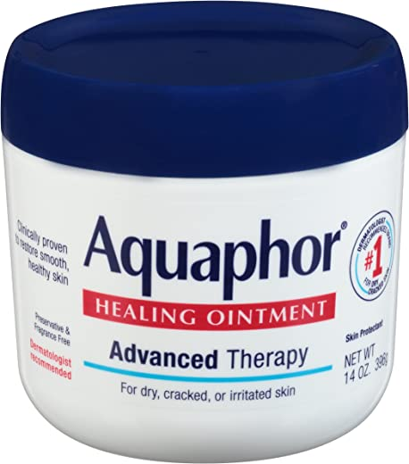 Aquaphor Healing Ointment – Moisturizing Skin Protectant for Dry Cracked Hands, Heels and Elbows, Use After Hand Washing – 14 Oz. Jar