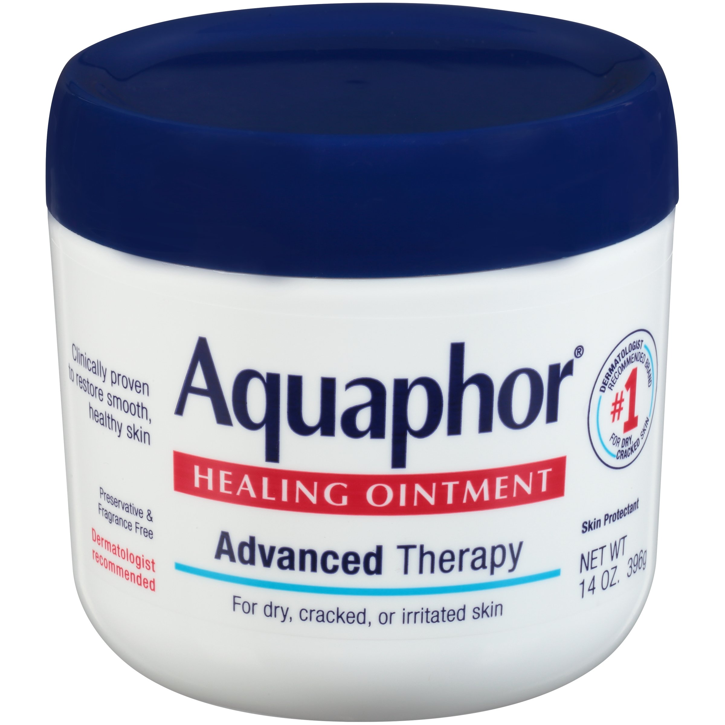 Aquaphor Healing Ointment - Moisturizing Skin Protectant for Dry Cracked Hands, Heels and Elbows - 14 oz. Jar by Aquaphor