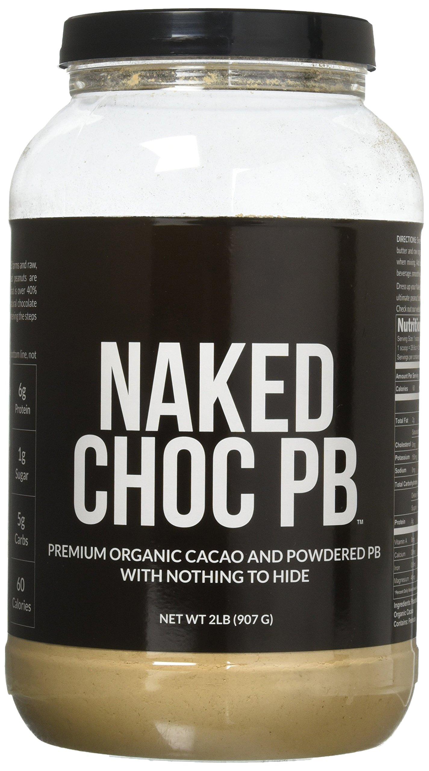NAKED CHOC PB - Premium Organic Cacao and Powdered PB - 2lb Bulk