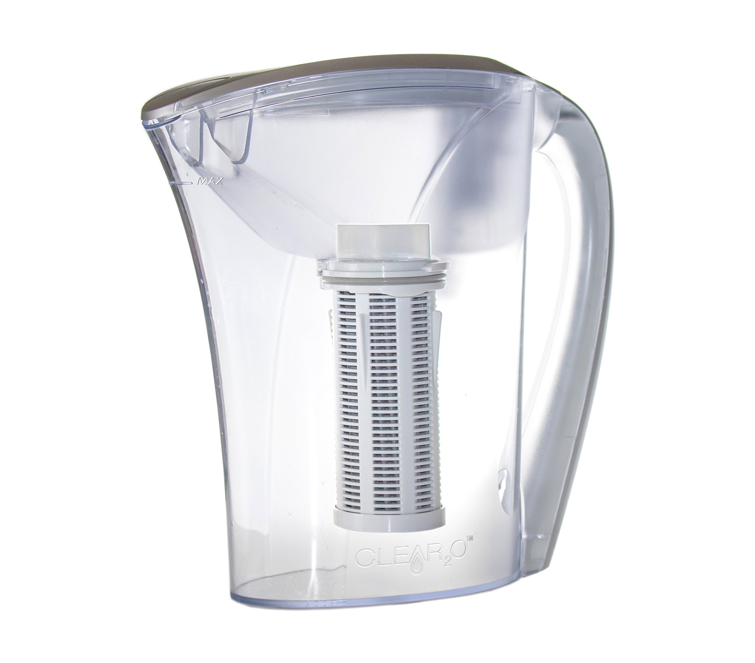 Clear2O Grp200 Advanced Gravity Water Filter Pitcher Designed With 100% Natural Coconut Carbon, 48 Oz