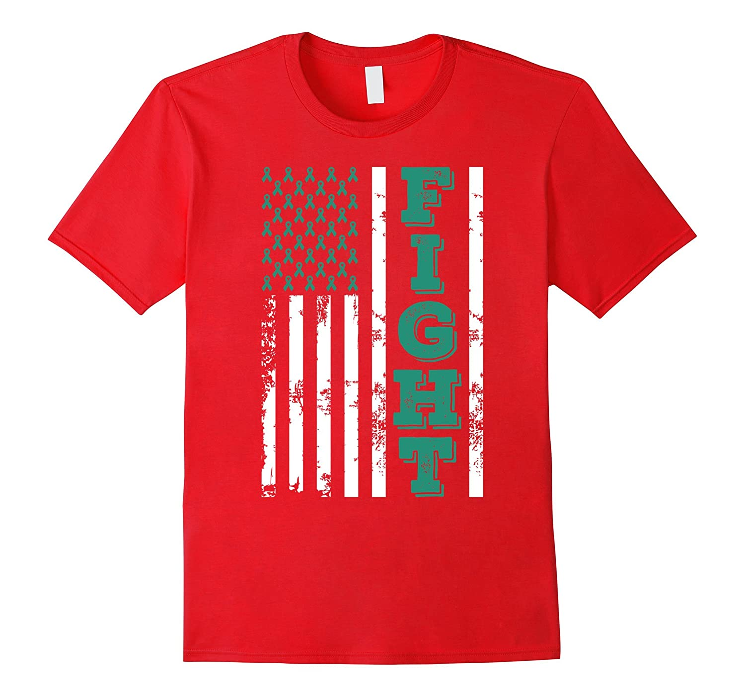 American Flag Fight Liver Cancer Awareness T Shirt-CL