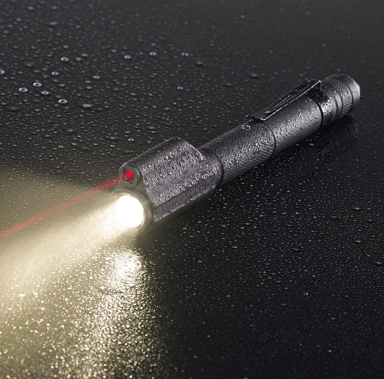 LED-Taschenlampe /& Laser-Pointer 110 lm 3 W KryoLights 2in1-Profi-Pen-Light