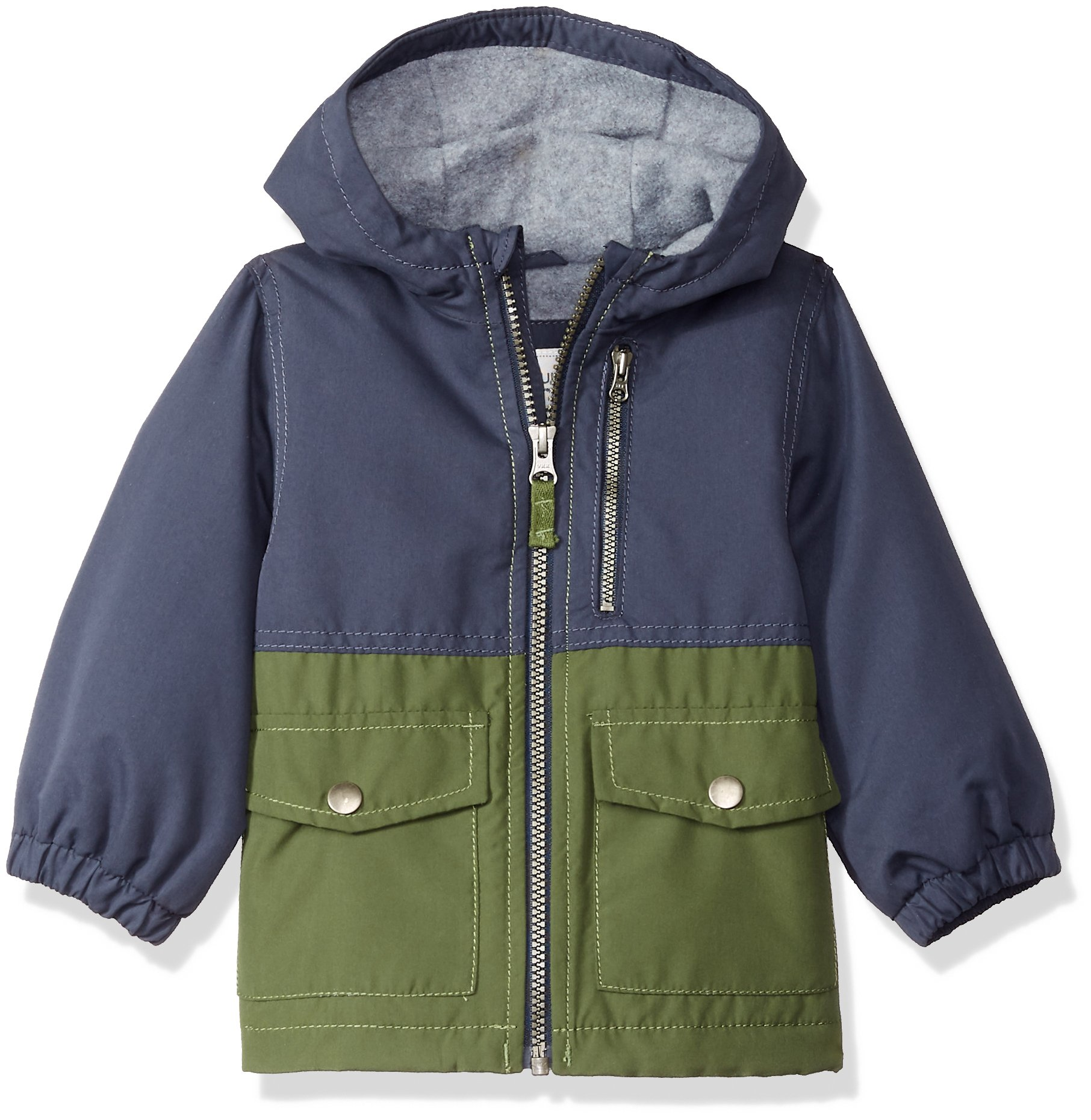 Carter's Baby Boys Perfect Midweight Jacket Coat, Navy/Green, 12M