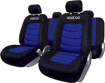 Sparco SPC1019AZ Set coprisedili per Auto in 11 Pezzi S-Line Blu