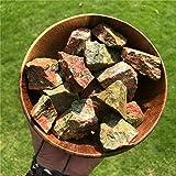 Simurg Raw Unakite Stone 1lb Rough Unakite Rocks for Cabbing, Tumbling, Cutting, Lapidary, Polishing, Reiki Crytsal Healing