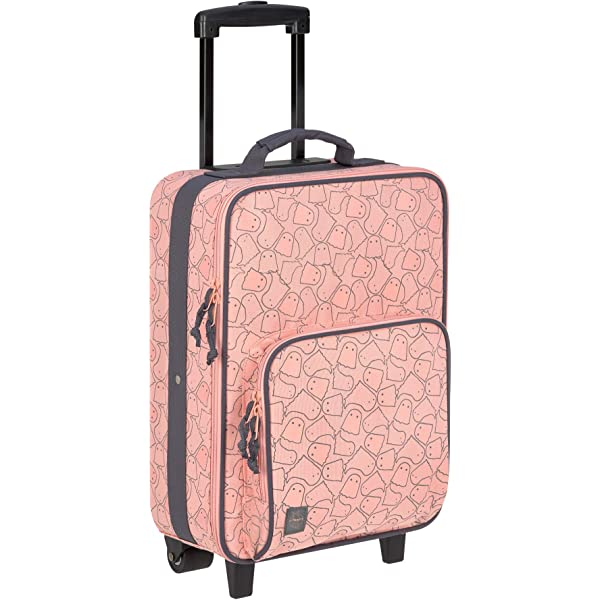 lightweight travel luggage Suitcase with wheels Spooky Peach L/ässig Kids Trolley