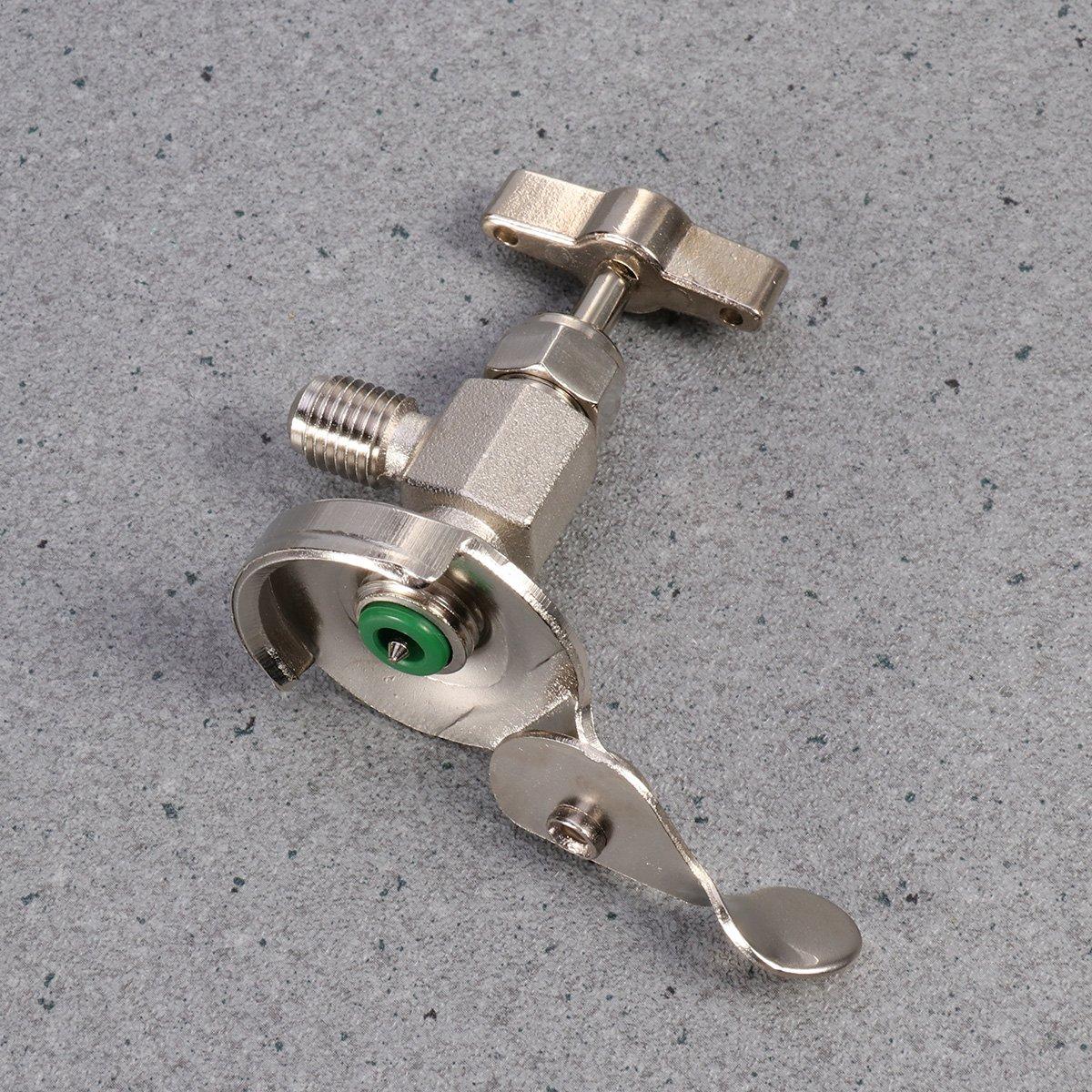 WINOMO Tubo di carico refrigerante per aria condizionata R12 R22 R134A Valvola di erogazione rubinetto per auto