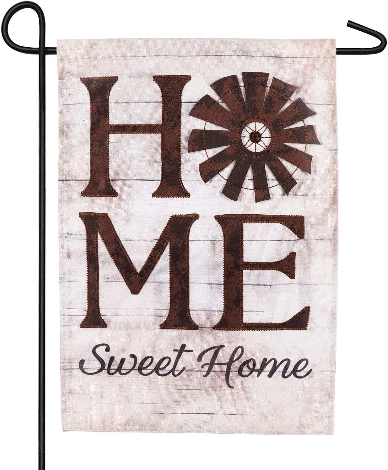 Evergreen Flag Windmill Home Sweet Home Linen Garden Flag - 12.5 x 18 Inches Outdoor Decor for Homes and Gardens