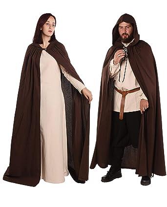 a84da623ea Amazon.com  byCalvina - Calvina Costumes Hero Medieval Viking LARP  Renaissance Mens Cotton Hooded Cloak-Made in Turkey