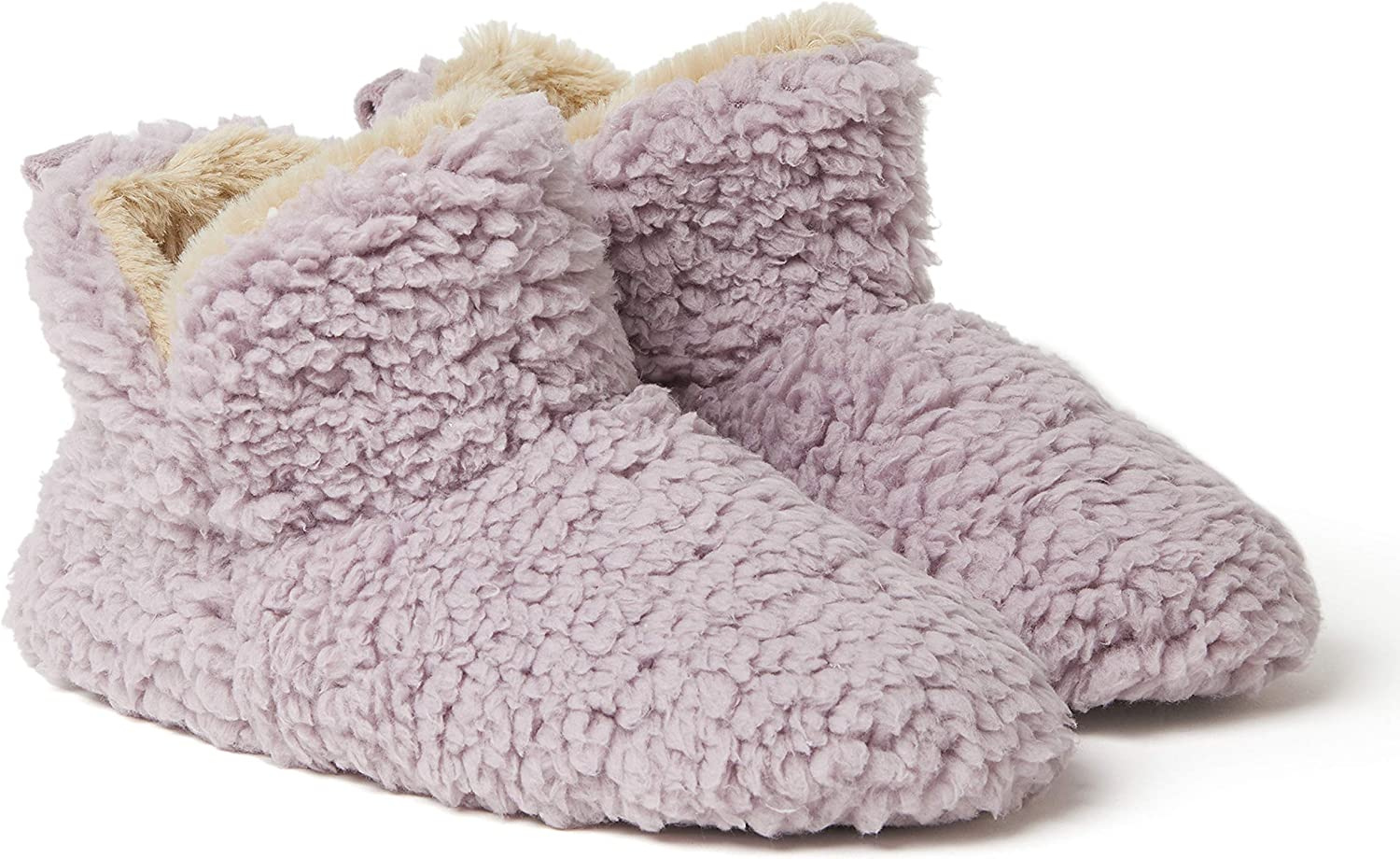 DEARFOAMS $34 SHERPA BOOTIE SLIPPERS SLEET GRAY WOMEN/'S SIZE XL 11-12 NWT