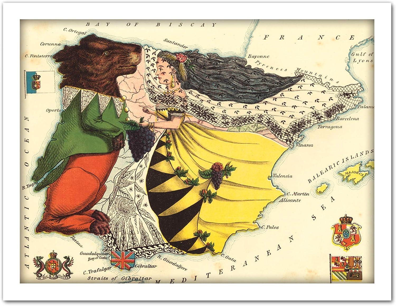 Fine Art Prints Lancaster 1869 - Póster Enmarcado de Mapa ...