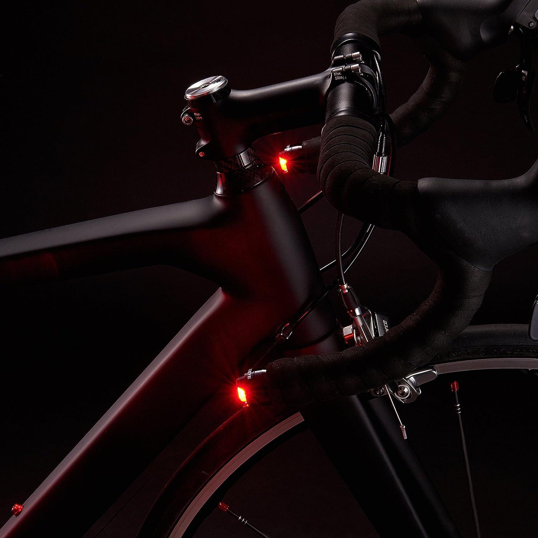 Negro Talla /Ã/šnica Luz de Bicicleta para Barra de manija Orbe CatEye