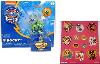 Paw Patrol Mighty Pups Zuma Figure With Light Up Paws And Badge