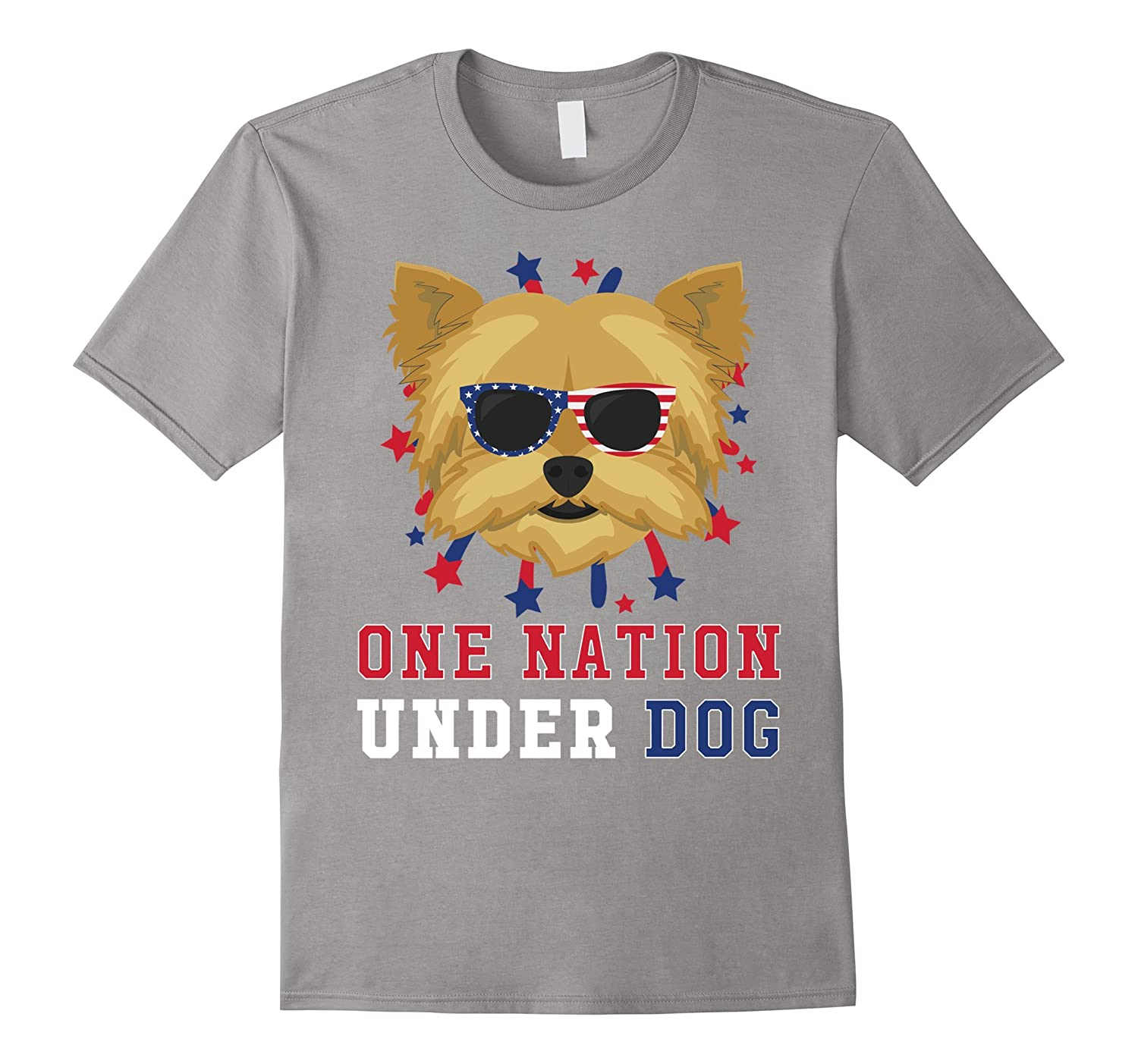 Yorkshire Terrier - One Nation Under Dog 4th Of July T-Shirt-Art