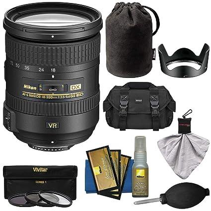 Nikon 18-200mm f/3 5-5 6G VR II DX ED AF-S Nikkor-Zoom Lens with 3  UV/FLD/CPL Filters + Case + Kit for D3200, D3300, D5300, D5500, D7100,  D7200 Camera