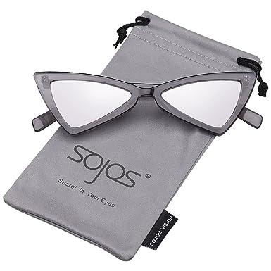 SOJOS Gafas De Sol Mujer Moda Triángulo Ojo De Gato SJ2051