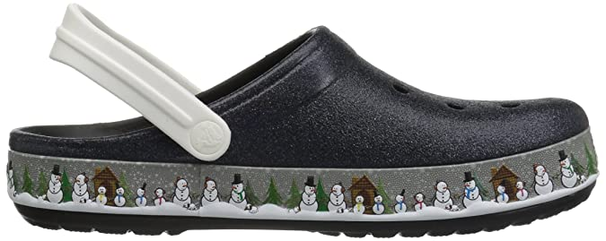 Crocs Schuhe Crocband Holiday Clog 204645, Schwarz,EU- 38-39